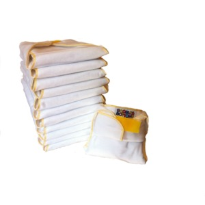 12 one size cloth baby diapers